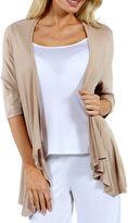 24/7 Comfort Apparel Women's 3/4-sleeve Open Shrug