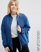 Asos Oversized Denim Bomber Jacket