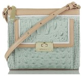 Brahmin 'Mimosa' Croc Embossed Leather Crossbody Bag - Blue