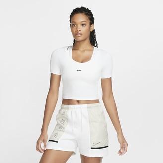 Nike Women's Short-Sleeve Crop Top Sportswear Essential