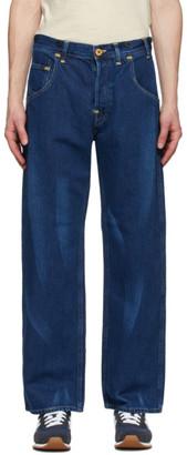 Junya Watanabe Indigo Levis Edition Linen Print Jeans
