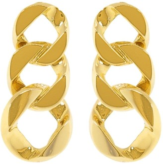 Verdura 18kt Yellow Gold Curb-Link Clip Earrings