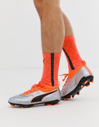 Puma ONE 3 leather soccer boots-Orange
