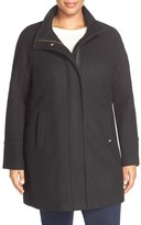 Ellen Tracy Wool Blend Stadium Coat (Plus Size)