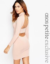 Asos Body-Conscious Dress with High Neck & Open Strap Back