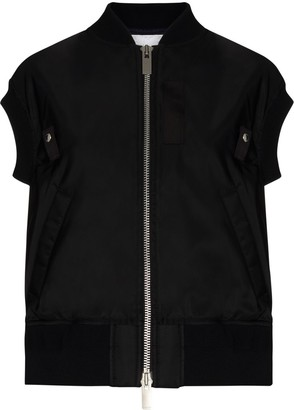 Sacai Short-Sleeve Shell Bomber Jacket