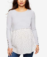 A Pea in the Pod Maternity Layered-Look Sweater