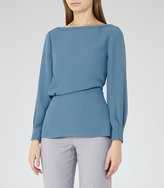 Reiss Nina Draped Long-Sleeved Top