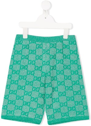 Gucci Kids GG metallic-threading shorts