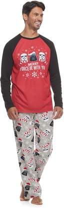 Star Wars Men's Jammies For Your Families Top & Bottoms Pajama Set