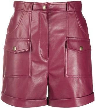 Philosophy di Lorenzo Serafini Faux-Leather Straight Shorts