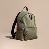 Burberry Leather Trim Nylon Backpack