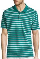 ST. JOHN'S BAY St. John's Bay Short-Sleeve Striped Jersey Pocket Polo Shirt