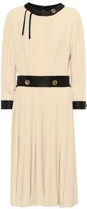 Prada Pleated crepe dress