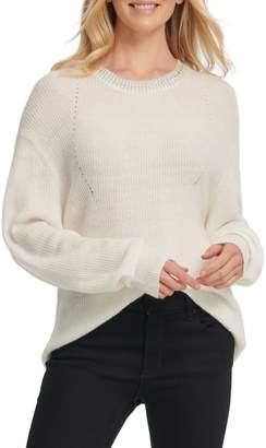 DKNY Jewelled-Neck Sweater