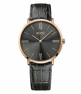 BOSS Hugo Boss BOSS Jackson Analog Embossed Leather-Strap Watch