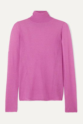 Isabel Marant Azale Cotton-blend Turtleneck Sweater - Fuchsia