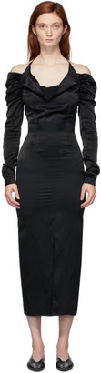 MATÉRIEL Black Cowl Neck Dress
