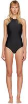 Y-3 Y 3 Black Halter Swimsuit