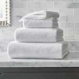 Crate & Barrel Turkish Cotton White Bath Towels