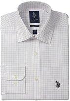 U.S. Polo Assn. Men's Tattersal Semi Spread Collar Dress Shirt