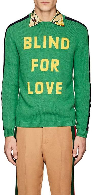 Gucci Men's Intarsia-Knit Wool Sweater