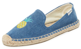 Soludos Embroidered Pineapple Smoking Slipper