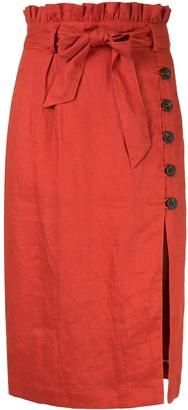 SUBOO Rising Sun paperbag skirt