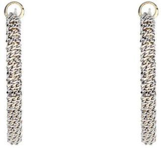 Gregory Ladner Oval Woven Metal Hoop Earrings