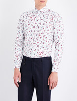 Etro Floral-print tailored-fit cotton shirt