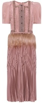 Bottega Veneta Fur-trimmed dress