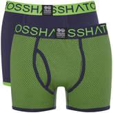 Crosshatch Men's 2 Pack Glowchex Boxer Shorts - Jasmine Green