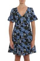 MICHAEL Michael Kors Floral Cady Flared Dress