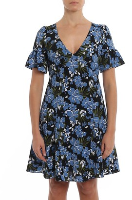 MICHAEL Michael Kors Floral Cady Flared Dress
