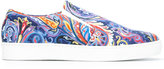 Etro paisley print slip-on sneakers - men - Cotton/Calf Leather/rubber - 42