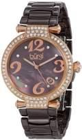 Burgi Women's BUR071BR Quartz Date Ceramic Bracelet Watch