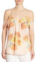 Joie Adorlee Floral Cold Shoulder Top