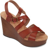 POP Canyon Faux-Wood Wedge Sandals