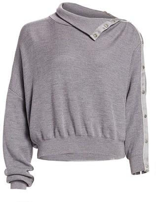 Alexander Wang Snap Turtleneck Sweater