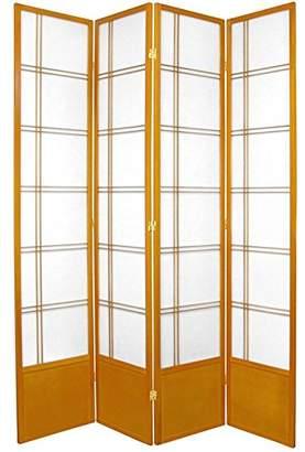Oriental Furniture 7 ft. Tall Double Cross Shoji Screen - - 4 Panels