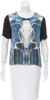 Prabal Gurung Silk Abstract Top