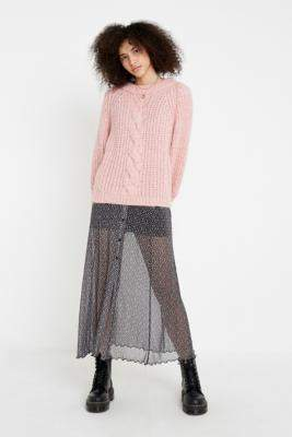 Gestuz Pink Knit Jumper - pink S at Urban Outfitters