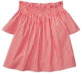 Ralph Lauren Girls' Bengal Stripe Off the Shoulder Top - Big Kid