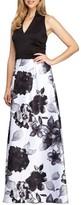 Alex Evenings Women's Mixed Media Gown