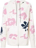 Barrie - Moon Flower zipped hoodie - women - Cashmere - XS