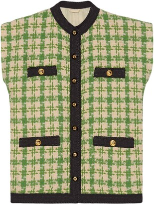 Gucci Houndstooth Gilet