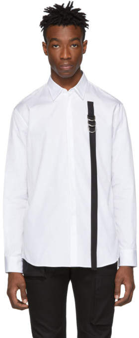 DSQUARED2 White Strap Relaxed Dan Shirt