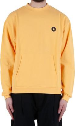 Drôle De Monsieur Slogan Pocket Sweatshirt - Yellow