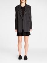 DKNY Pinstripe Notch Collar Jacket