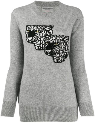 Ermanno Scervino Jaguar Embroidered Cashmere Jumper